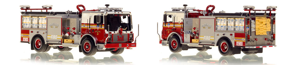 FDNY's Satellite 3 scale model is hand-crafted and intricately detailed.