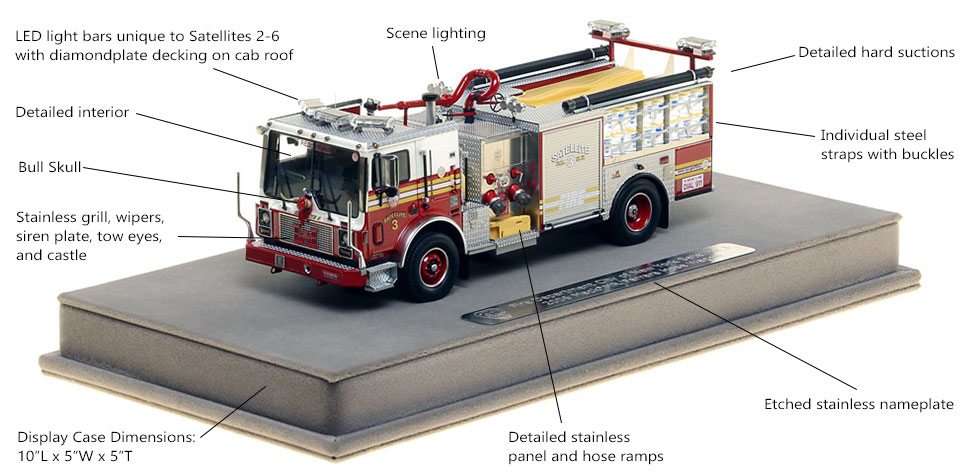 Features and Specs of FDNY Satellite 3 scale model