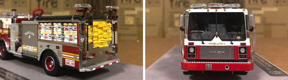 Closeup pictures 1-2 of the FDNY Satellite 4 scale model