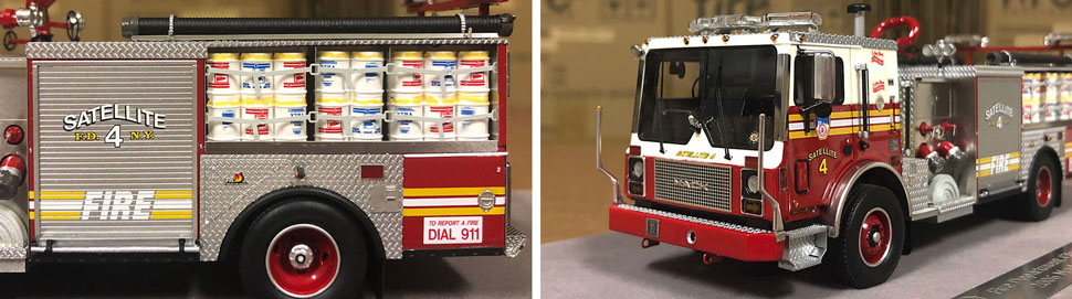 Closeup pictures 3-4 of the FDNY Satellite 4 scale model
