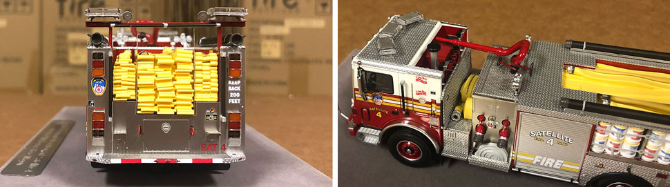 Closeup pictures 5-6 of the FDNY Satellite 4 scale model