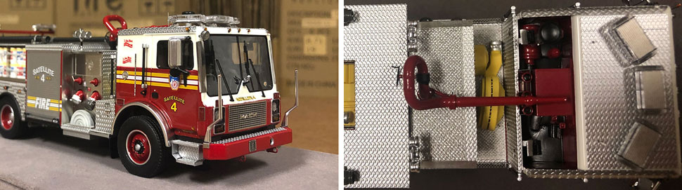 Closeup pictures 7-8 of the FDNY Satellite 4 scale model