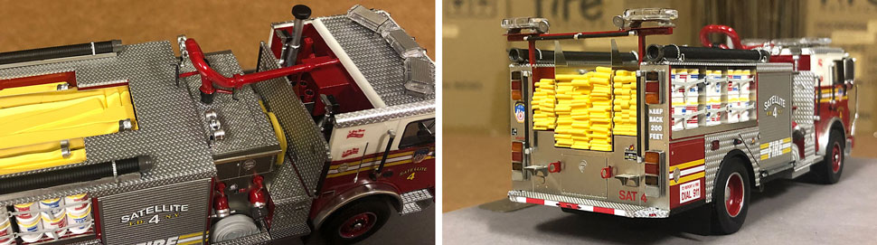 Closeup pictures 9-10 of the FDNY Satellite 4 scale model