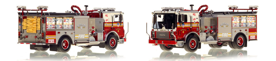 FDNY's Satellite 4 scale model is hand-crafted and intricately detailed.
