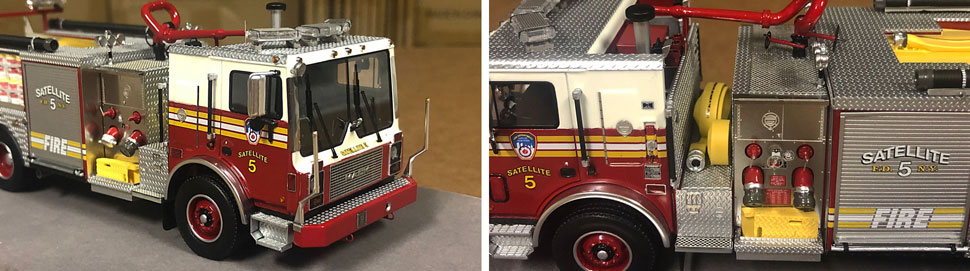 Closeup pictures 1-2 of the FDNY Satellite 5 scale model