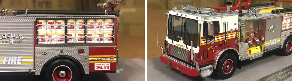 Closeup pictures 7-8 of the FDNY Satellite 5 scale model