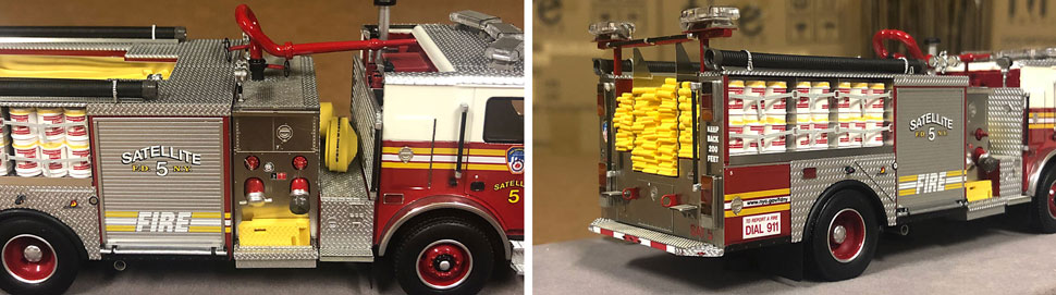Closeup pictures 5-6 of the FDNY Satellite 5 scale model