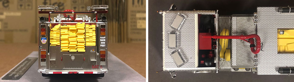 Closeup pictures 9-10 of the FDNY Satellite 5 scale model