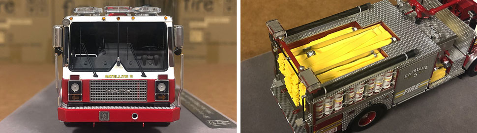 Closeup pictures 3-4 of the FDNY Satellite 5 scale model