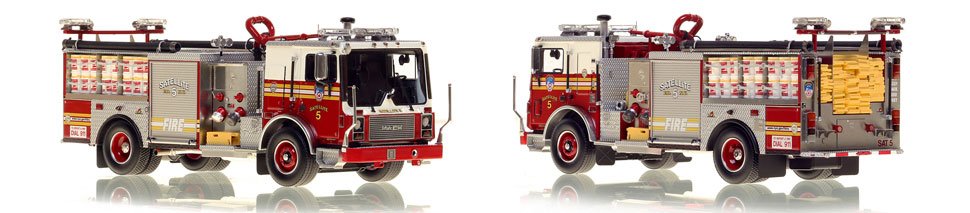 FDNY's Satellite 5 scale model is hand-crafted and intricately detailed.