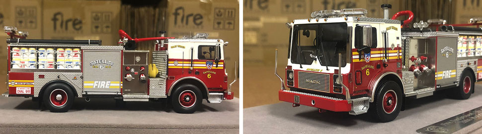 Closeup pictures 1-2 of the FDNY Satellite 6 scale model