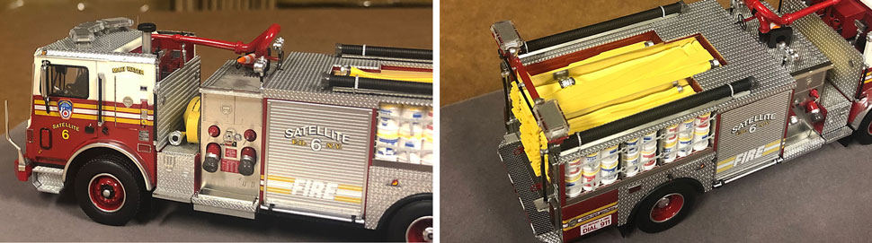 Closeup pictures 3-4 of the FDNY Satellite 6 scale model