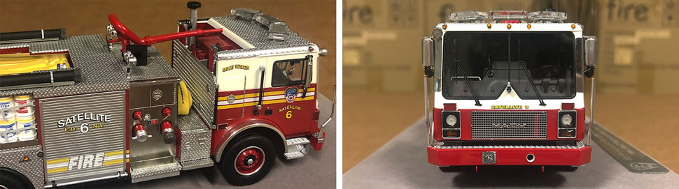 Closeup pictures 5-6 of the FDNY Satellite 6 scale model