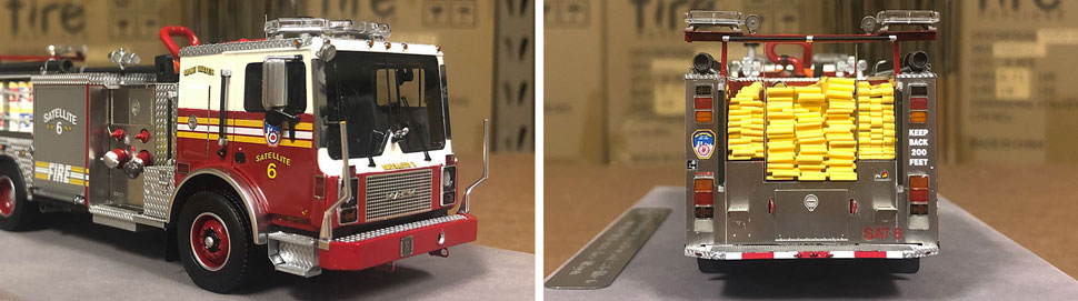 Closeup pictures 7-8 of the FDNY Satellite 6 scale model