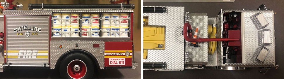 Closeup pictures 9-10 of the FDNY Satellite 6 scale model