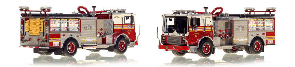 FDNY's Satellite 6 scale model is hand-crafted and intricately detailed.