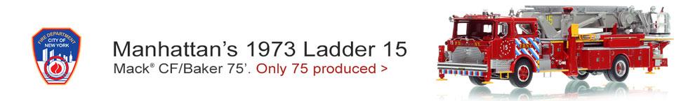 FDNY Mack CF/Baker 75' Tower Ladder 15 in Manhattan - 1:50 scale model