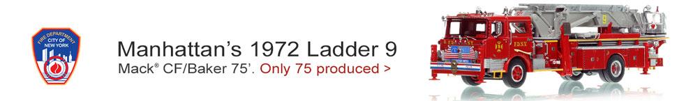 FDNY 1972 Mack CF/Baker 75' Tower Ladder 9 in Manhattan