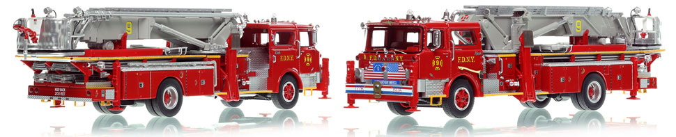 FDNY's 1972 Mack CF/Baker Tower Ladder 9 is now available as a museum grade replica