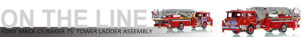 FDNY's 1972-73 Mack CF/Baker Tower Ladder scale model assembly pictures