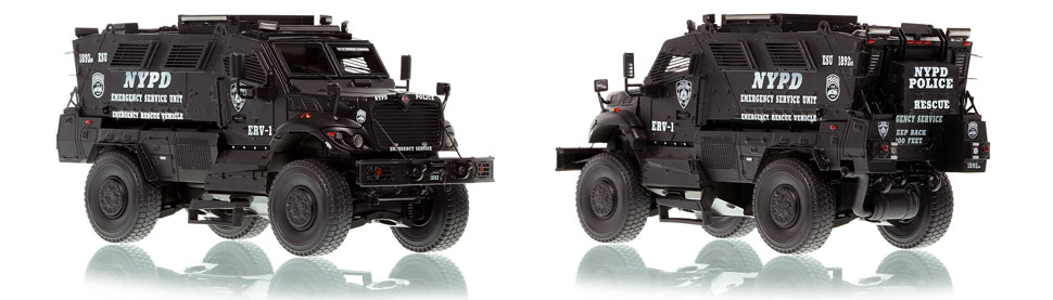 NYPD ERV-1 scale model is hand-crafted and intricately detailed.