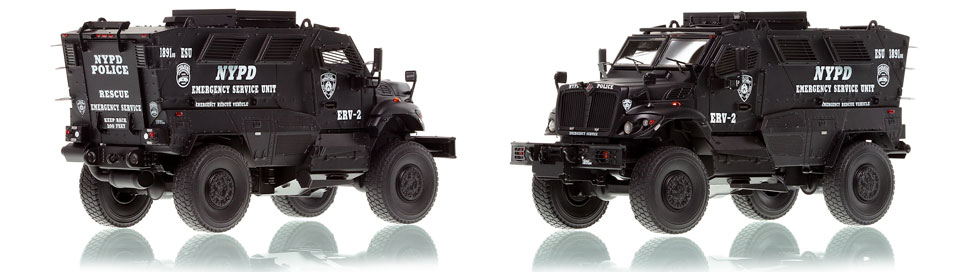 NYPD ERV-2 scale model is hand-crafted and intricately detailed.