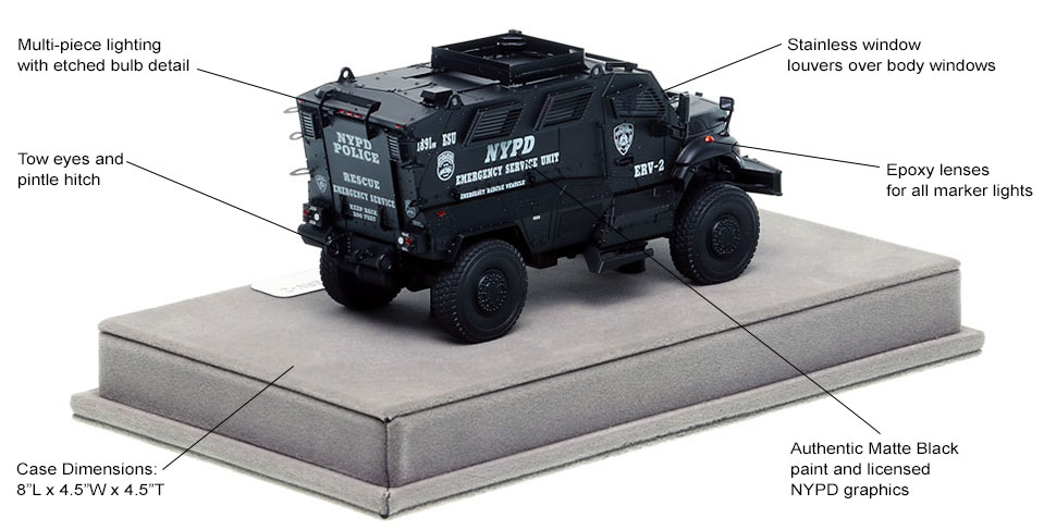 Specs and Features of NYPD's ERV-2 scale model
