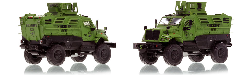 The first museum grade scale model of the International MVP 4x4 Sheriff SWAT truck