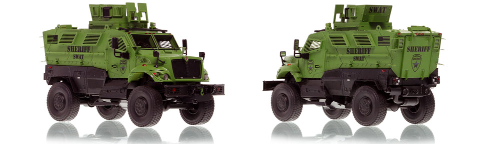 International MVP 4x4 Sheriff SWAT scale model is hand-crafted and intricately detailed.