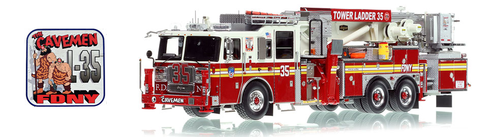See the FDNY Tower Ladder 35 for the Cavemen of Manhattan!
