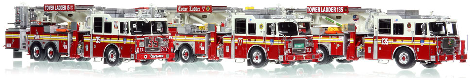 FDNY 2010 Seagrave 75' Tower Ladders are now available to order!