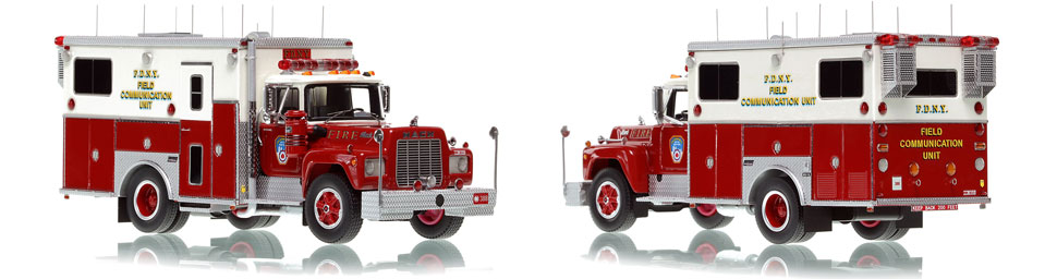 FDNY's 1985 Field Communications scale model is hand-crafted and intricately detailed.
