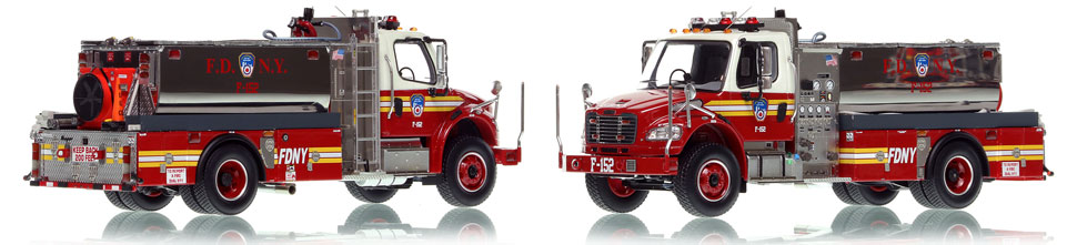 FDNY Foam Tanker 152 is hand-crafted, limited in production, and includes a display case