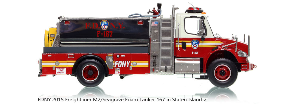 FDNY Foam Unit 167 in Staten Island on Freightliner M2 Chassis