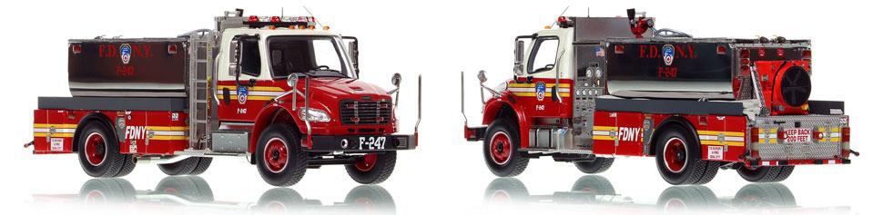 FDNY Foam Tanker 247 scale model is an authentic museum grade replica