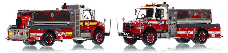 FDNY Foam Tanker 260 is hand-crafted, limited in production, and includes a display case