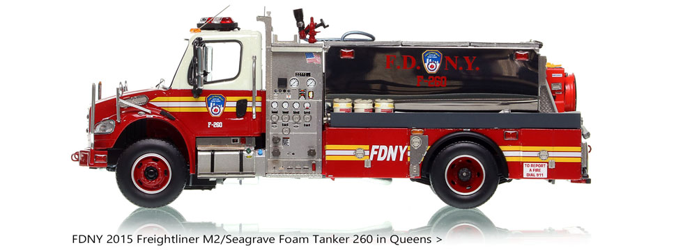 FDNY Foam Tanker 260 on Freightliner M2 chassis.