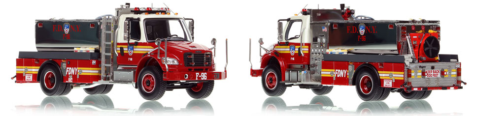 FDNY Foam Tanker 96 is hand-crafted, limited in production, and includes a display case