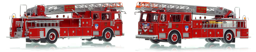 FDNY's 1983 Seagrave Ladder 26 is now available as a museum grade replica