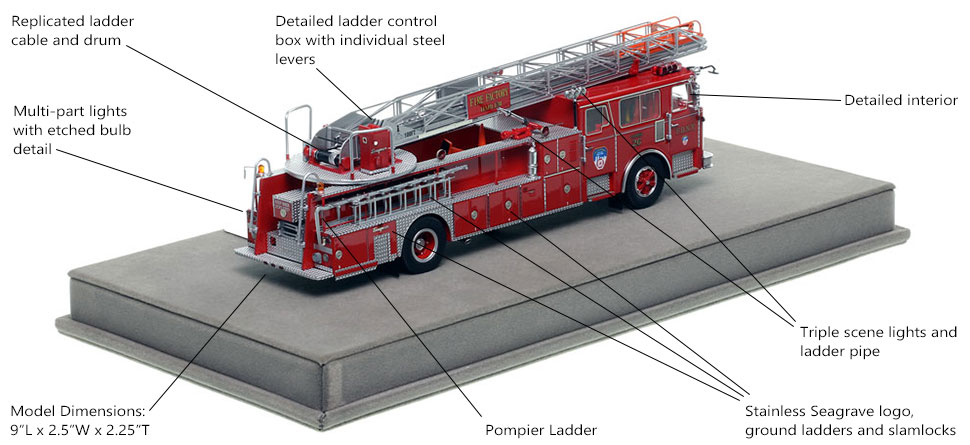 Specs and Features of FDNY's 1983 Ladder 26 scale model