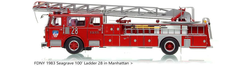 Manhattan's 1983 Ladder 28 in 1:50 scale
