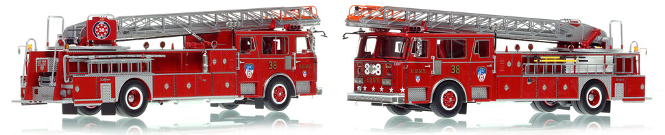 FDNY's 1983 Seagrave Ladder 38 is now available as a museum grade replica