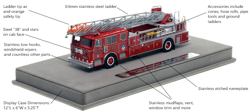 Features and Specs of FDNY's 1983 Ladder 38 scale model