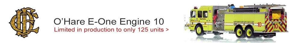 Chicago O'Hare E-One Engine 10 Pumper Tanker scale model