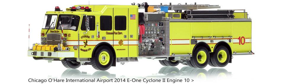 Check out the Chicago O'Hare E-One Cyclone II Engine 10 replica!