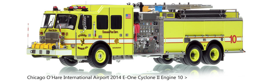 Chicago Fire Department O'Hare E-One Engine 10 scale model