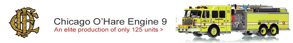 Order your Chicago O'Hare E-One Engine 9 scale model!