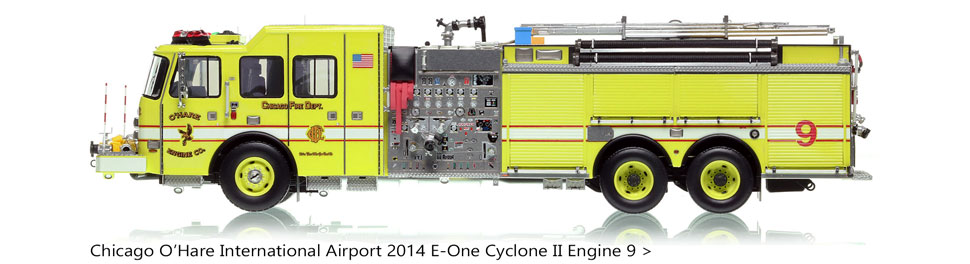 Chicago O'Hare E-One Pumper Tanker Engine 9 scale model