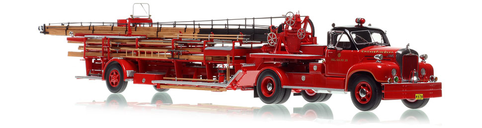 Chicago Hook & Ladder Company 25 - 1960 Mack B Tractor with FWD 85' Aerial scale model