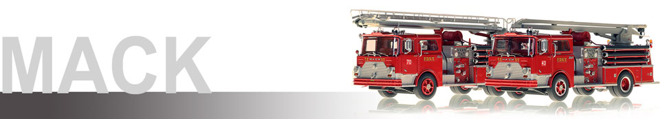Mack scale model fire trucks